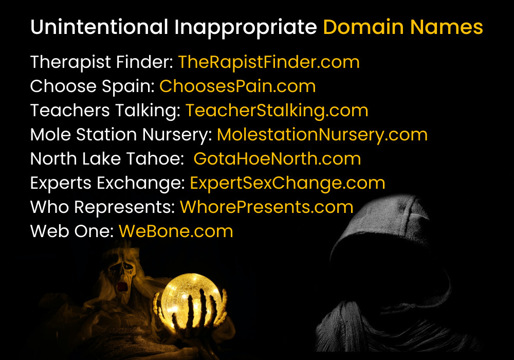 Unintentional Inappropriate Domain Names